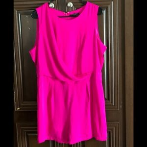 Hot Pink romper new without tags